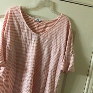NWT Splendid red and white striped top